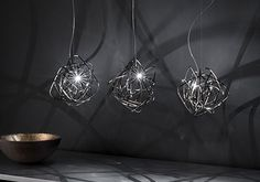 Freehand Design-Doodle is a pendant lamp designed by Simone Micheli for the Italian brand Terzani. Simone Micheli has created a new light. Modern Lighting Design, Interior Lighting, Lighting Ideas, Doodle Wall, Black Amethyst, Branding, Led, Design Furniture, Houses