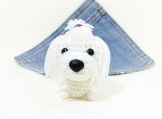 Amigurumi Maltese Puppy Dog toy. Cute Maltese by Owlystore on Etsy