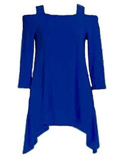 b657d343ede Amazon.com: Clara Sun Woo Cold Shoulder Tunic Top: Clothing | Amazon ...