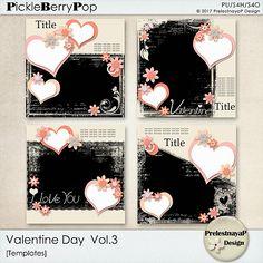 Valentine day Templates Vol.3 by PrelestnayaP Design
