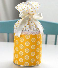 Pote de doce reciclado para chá de bebê