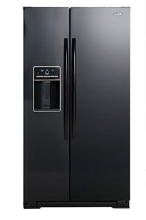 S x S FRIDGE FREEZER - ICE WATER DISPENSER - 608L - BLACK Water Dispenser, French Door Refrigerator, Freezer, House Ideas, New Homes, Kitchen Appliances, Ice, Black, Diy Kitchen Appliances