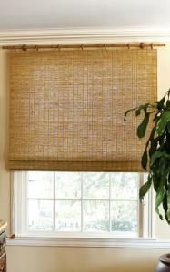 Check out the Natural Woven Flat Fold Shades in Curtains & Window Coverings, Fabrics & Linens from Smith+Noble for Bamboo Curtains, Bamboo Blinds, Burlap Curtains, Woven Wood Shades, Bamboo Shades, Window Coverings, Window Treatments, Blinds For Windows Living Rooms, Blinds For Bedroom