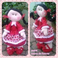 Boneca de feltro joaninha