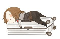 xxxxxx6x: Really tired of packing up the luggage although Im...  xxxxxx6x:  Really tired of packing up the luggage although Im looking forward to the holiday  I wanna pat his little Bucky butt!  Tags: fanart Bucky Barnes Winter Soldier xxxxxxx6x Published: September 29 2016 at 04:37PM