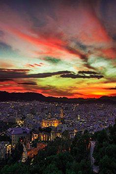 Anochecer MALAGA-SPAIN