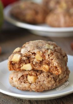 Soft and Chewy Apple Spice Oatmeal Cookies – gluten-free, dairy-free and 100% whole grain