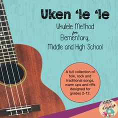 Teaching for beginners or more advanced students? Are you well on your way to the cool songs? Then you're ready for Uken'le'le Method! All the cool songs, TAB, sheet music, fingering chart posters, history of the uke and FULL lesson plans! Music Lesson Plans, Music Lessons, Ukulele Songs, Music Chords, Middle School Music, Music Activities, This Is A Book, Elementary Music, Music Classroom
