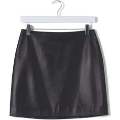 Leather Mini Skirt by Boutique ($230) ❤ liked on Polyvore