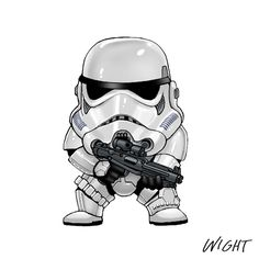 Here's a great series of Star Wars alphabet character art created by Joe Wight. As you can see he threw in a little stylistic touch of Manga to the designs to cute them up