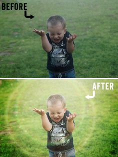 Photoshop Before and After Learn Editing and FREE Flare Overlays!