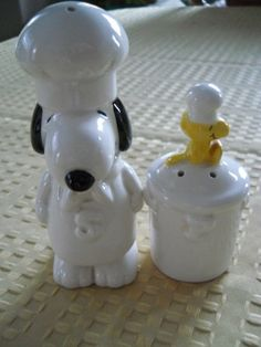 Update: FINALLY FOUND & BOUGHT on eBay $18!!! Snoopy Chef and Woodstock Chef Salt and Pepper by DEWshophere, $26.99