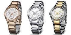 Ideales estos relojes!!! Los podéis encontrar en www.capricciplata.com y en www.facebook.com/capricci.plata1 Michael Kors Watch, Photo And Video, Accessories, Facebook, Fashion, Models, Natural Stones, Silver Jewellery, Bangle