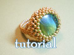 Items similar to Green Fairy Beaded Cocktail Ring - PDF Tutorial on Etsy Bead Jewellery, Jewelry Making Beads, Beaded Jewelry, Jewellery Making, Jewlery, Beading Tutorials, Beading Patterns, Diy Rings Tutorial, Diy Jewelry Inspiration
