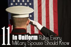 There are quite a few etiquette rules when a service member is in uniform that spouses may be interested to know. Click here to read about 11 common regulations!