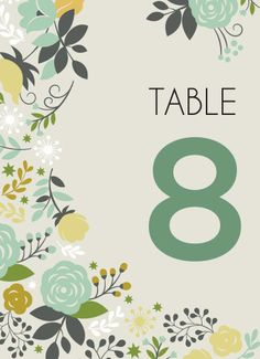 Blissful Blooms Table Numbers - Hoopla House