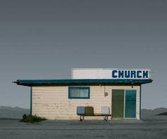 "Saatchi Art Artist Ed Freeman; Photography, ""Church, Mojave CA – Edition 4 of 9"" #art"
