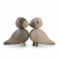 Houten Lovebirds | Kay Bojesen Denmark Love birds