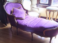 French Purple Fainting Couch