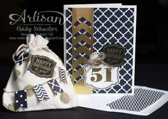 Cindy Schuster's card with matching envelope and mini gift bag!