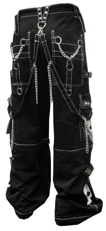 "Tripp NYC ""Grim Skull"" Pants (Black/White)"