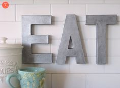 credit: Sugar and Charm [http://www.curbly.com/users/capreek/posts/10081-how-to-make-your-own-faux-zinc-letters]