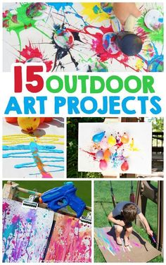 """Art Projects For Kids - I Heart Arts n Crafts Outdoor Art Projects For Kids"""" these are perfect for summer fun outside!Outdoor Art Projects For Kids"""" these are perfect for summer fun outside!"""