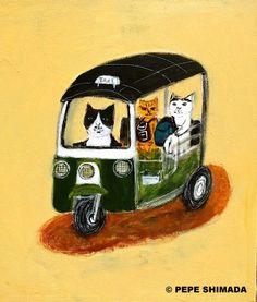 Bangkok Tuk Tuk Cats / Pepe Shimada