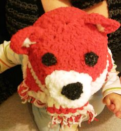 Teddy bear Hat and Scarf for Baby