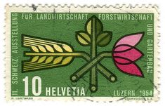 Gorgeous vintage Swiss stamps from the 1940s-1970s