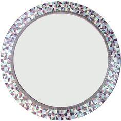 Round Mosaic Mirror in Purple Gray and Aqua ($190) ❤ liked on Polyvore featuring home, home decor, mirrors, home & living, home décor, silver, grey home decor, rectangle mirror, round mirror and handmade home decor