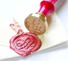 Filigree Heart Gold Plated Wax Seal Stamp & Sealing Wax