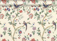 Papier peint Summer Palace multicolore/cramoisi