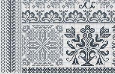 Point de croix *m@ Cross stitch Nouveau gazette sampler E