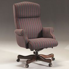 Triune Business Furniture Executive Chair Upholstery Color: Night, Frame Finish: Walnut, Tilt Mechanism: Tilt Lock Included
