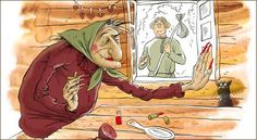 Baba-Yaga is not purely evil as she may help or hinder those that encounter or seek her out and may play a maternal role Baba Yaga, Fantasy Witch, Russian Humor, Art Simple, Funny Signs, Cool Words, Animals And Pets, Inventions, Fairy Tales
