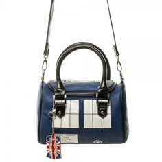 Doctor Who Tardis Mini Satchel Purse with Metal Charm - Final Stock just in time for Christmas, Hanukkah, and more!!    Bigger on the inside and a PERFECT gift for Doctor Who fans.