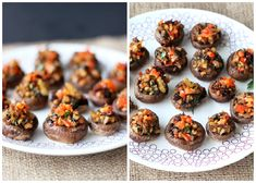 Vegan, Grain-Free Stuffed Mushrooms @Cara's Cravings
