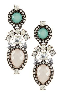 Stone Cluster Drop Earrings by Sparkling Sage on @HauteLook