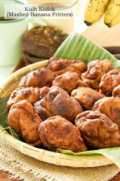 Kuih Kodok (Mashed Banana Fritters), a.k.a. Toad Cakes is a simple dessert using only 5 ingredients. It is a good way to use up all those over-ripen bananas.   RotiNRice.com