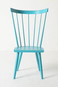 Blue chair - Use our Low-VOC trim paint in a bright color to create this accent piece!