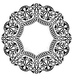 Black circle frame with ornamental border vector on VectorStock