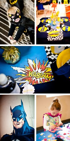 batman party idea - decorate super hero masks
