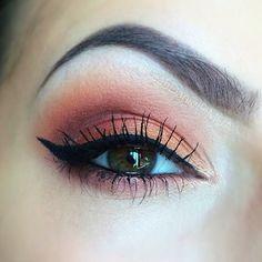 Today's eye - using the Jaclyn Hill Morphe Palette! ....I can't help it I love warm eye looks  by leahdaniellemua