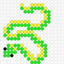 Snake perler bead pattern Source by jbirambi Perler Bead Templates, Pearler Bead Patterns, Perler Patterns, Pearler Beads, Loom Beading, Beading Patterns, Pokemon Perler Beads, Iron Beads, Melting Beads