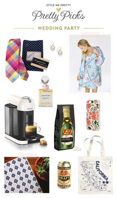 Fun gifts for you wedding party plus discounts and giveaways: http://www.stylemepretty.com/2015/03/25/pretty-picks-for-your-wedding-party-giveaways/