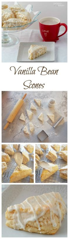 Vanilla-Bean-Scones-Starbucks-Copy-Cat-recipe are a delightful breakfast or tea time treat infused with plenty of sweet vanilla flavor.