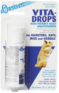 Does your cute little critter need this? Small pet products you need... pet rat, hamster, mice and gerbil vitamins.