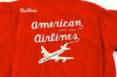 Nat Nast Bowling Shirt American Airlines Bowling by plattermatter, $218.00