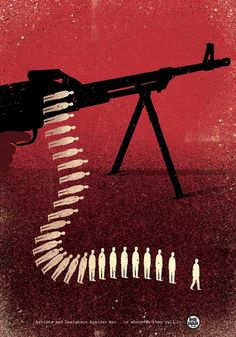 Category: Image Based Design- A Farewell to Arms poster by Davide Bonazzi. The simple design gets the message across. Made because of the problems with guns in America. Graphic Design Posters, Graphic Design Inspiration, Graphic Art, Political Posters, Political Art, Political Issues, Satirical Illustrations, Illustrations And Posters, Luba Lukova
